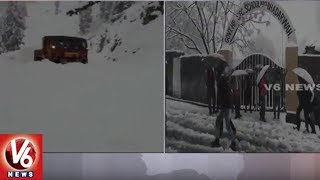 Heavy snowfall In JandK, Srinagar-Leh Highway Closed |