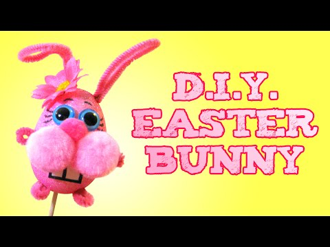 Easter Bunny Craft Project - Puppet/Decoration