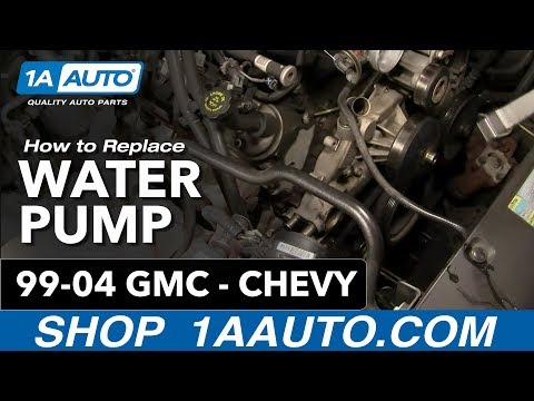 How To Install Replace Water Pump Chevy GMC Silverado Sierra Tahoe Yukon 4.8L 5.3L 6.0L 99-04 1AAuto