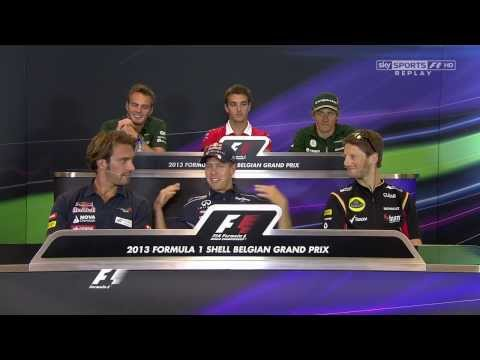 Do you feel ready to be a father? F1 Drivers Thursday Press Conference @ Belgian GP 2013