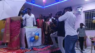 Cake cutting at birthday party organized by Chennai Event Professionals MC Lambo