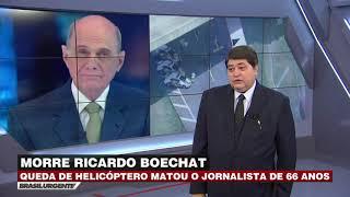 Datena comunica morte de Ricardo Boechat