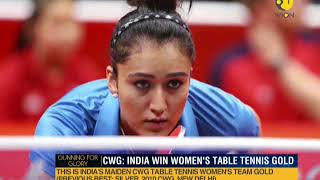 CWG: India win historic women's table tennis gold