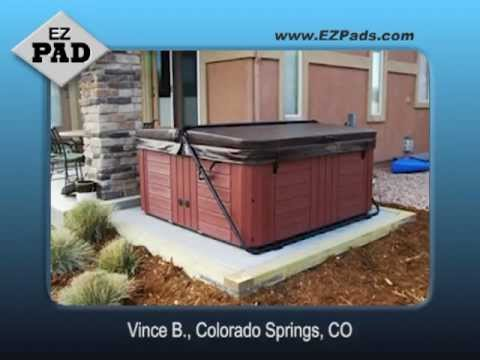 EZ Pads Testimonials - See customer videos of hot tub and spa installations.