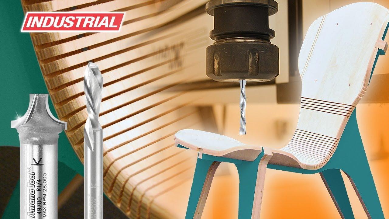 Kerf chair designed by boris goldberg using amana tool for Furniture design tool