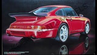 Обзор Porsche 911 Carrera Turbo '91 Fujimi 1/24 (сборные модели)
