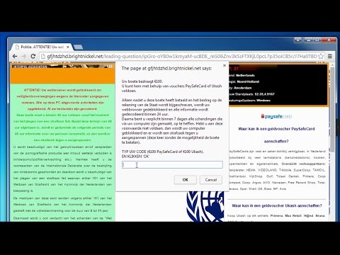 How do I get rid of Browser blocked by FBI,NSA,Interpol,Cybercrime scam virus(Removal guide)