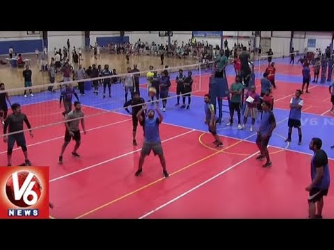 ATA & TATA Conducts Volleyball Tournament At Dallas | American Telugu Convention | V6 USA NRI News