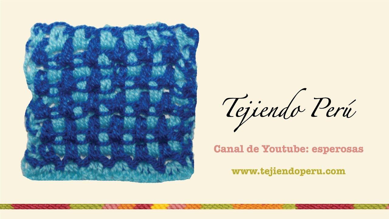 Punto en ganchillo tunecino en dos colores 2 youtube - Sofas de dos colores ...