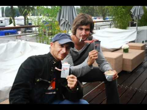 Tom Beck smoking a cigarette (or weed)