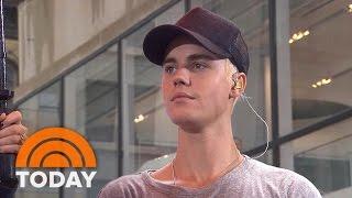 Matt Lauer Presents Justin Bieber With Special Award | TODAY