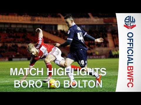 YouTube video: Highlights from Boro 1-0 Bolton