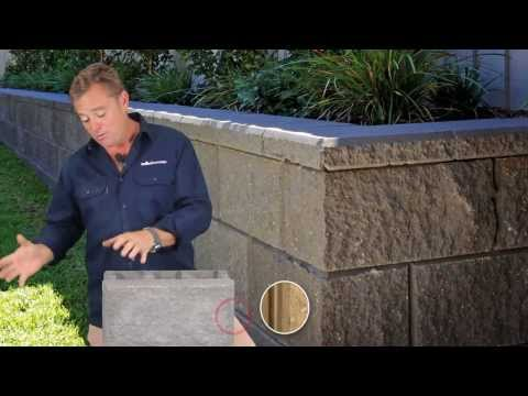 how to build a retaining wall using unilock pisa 2