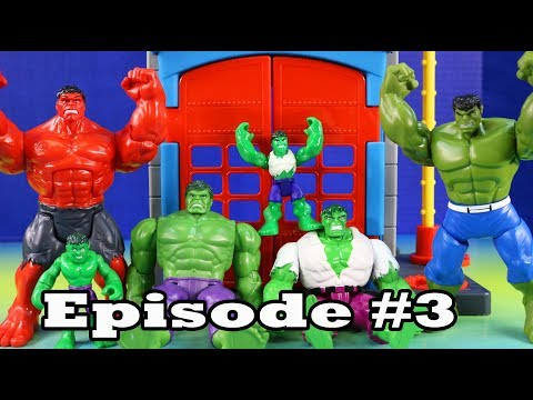 Hulk Episode 3 ! Hulk Learns To Be Nice And Help Others + Superhero Toys