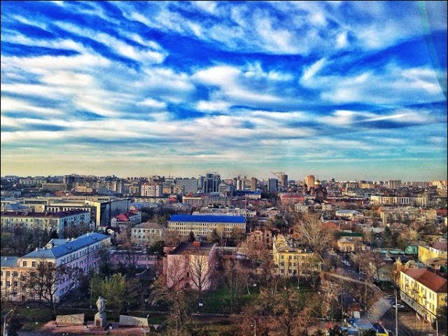Краснодар с колеса обозрения в парке Горького
