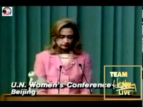 "TRAILBLAZER FIRST LADY HILLARY RODHAM CLINTON ~ "" WOMEN'S RIGHTS ARE HUMAN RIGHTS ONCE AND FOR ALL """