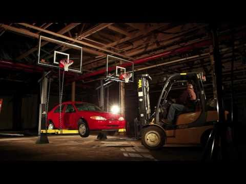 The Goalrilla DC Basketball System vs. Car