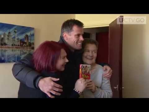 Jamie Carragher surprises fan with a special delivery