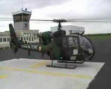 décollage hélicoptère gazelle armée de terre de niort souché