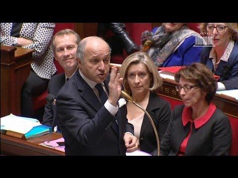 Laurent Fabius se moque de Jacques Myard à l'Assemblée - 19/02
