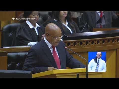 Zuma rides Nkandla 'elephant in the room'
