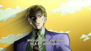 【HD】ジョジョ: Yoshikage Kira's Reveals His Stand, Killer Queen!