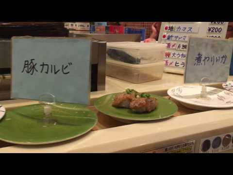 Sushi aan de lopende band