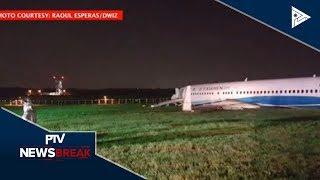 NEWS BREAK | Commercial airplane ng China, sumadsad sa NAIA; Ilang flights, kanselado