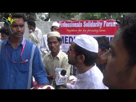 Free Medical Camp for Burmese Refugees by Professionals Solidarity Forum and SIO in Hyderabad