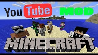 YOUTUBE MOD - Vegetta777, Willyrex, ElrubiusOMG y mas! - Minecraft mod 1.7.10 Review ESPAÑOL
