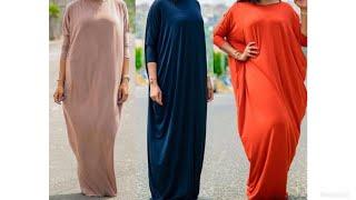 How to cut and sew Abaya/ Cowl dress/ Kaftan (Easy)
