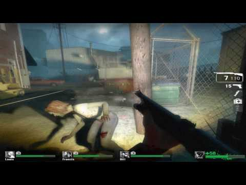 Left 4 Dead MAX SETTINGS Run(Campaign:Crash Course)
