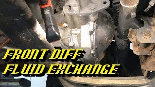 Ford Front Differential Maintenance: Specialized Drain and Fill Procedure