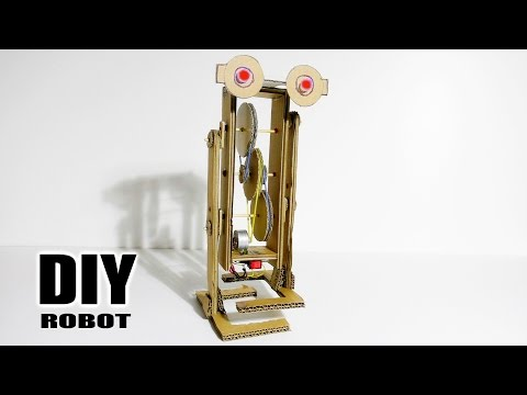 How to Make Walking Robot - Cardboard