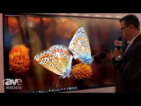 ISE 2016: TRIUMPH BOARD Shows off Their Flagship 4K Interactive 10-Touch Display