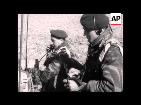 PARATROOPS IN ALGERIA - NO SOUND