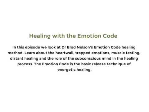 Healing with the Emotion Code