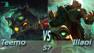 League of Legends - Omega Teemo vs Illaoi - S7 Ranked Gameplay (Season 7)