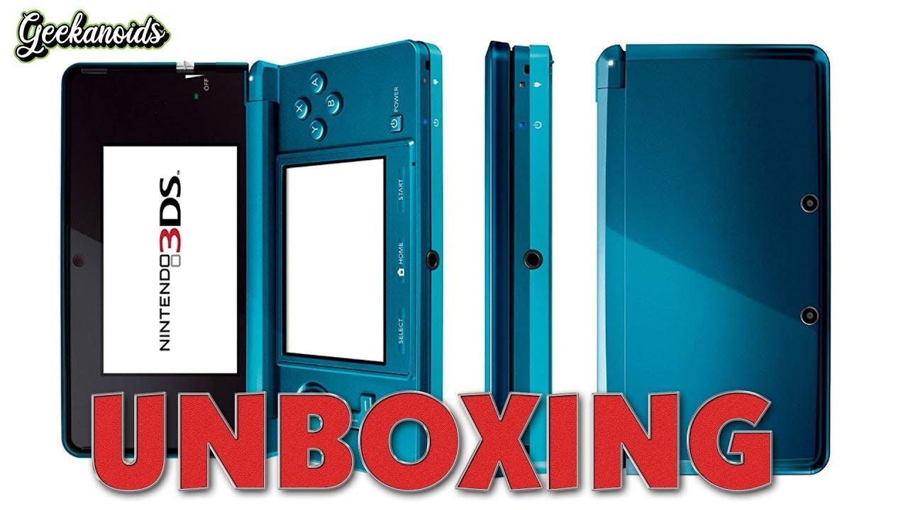 Nintendo 3ds Unboxing Aqua Blue Youtube
