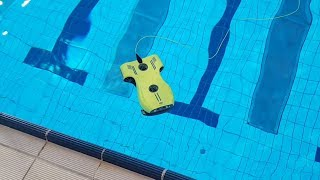 Unboxing and Testing a Underwater Drone In The Pool - Aquarobotman NEMO