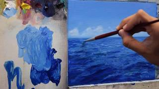 Painting a seascape