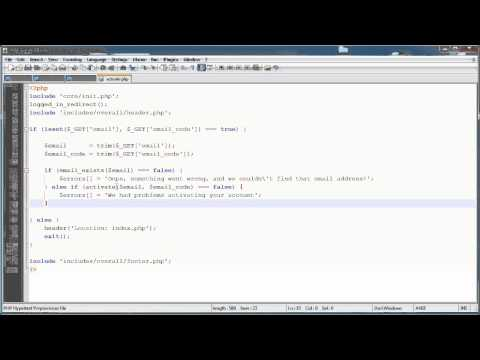 PHP Tutorials: Register & Login (Part 14): Email Activation (Part 3)