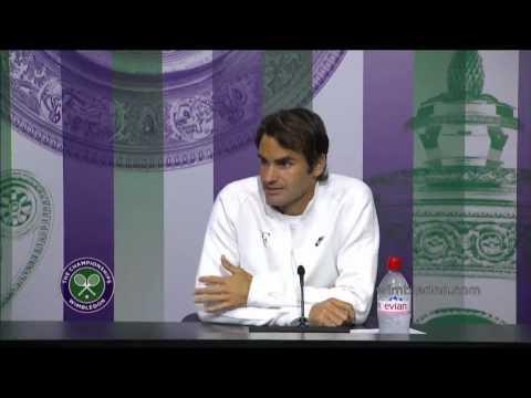 Roger Federer Wimbledon 2014 1R Press Conference