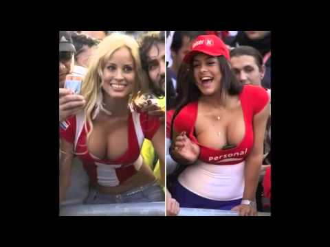 Happening Sexy Girls Football Fan   Beautiful Woman Supporter Of The World   Funny Fifa World Cup video
