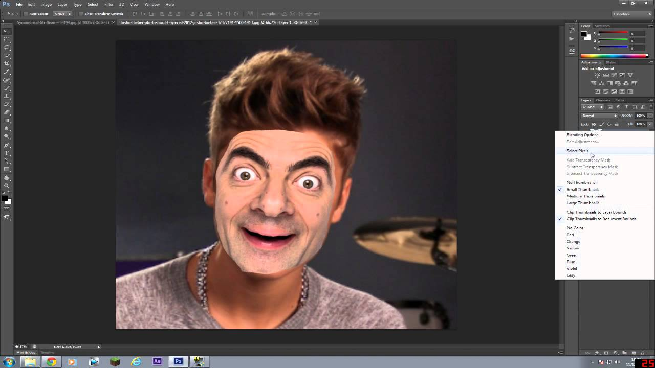 How to swap faces on Photoshop CS6 EASY! - YouTube