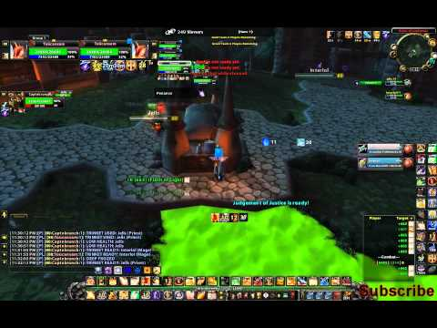 2v2 WoW Arena Paladin Warrior vs. Disc. Priest Frost Mage ... pretty long game.