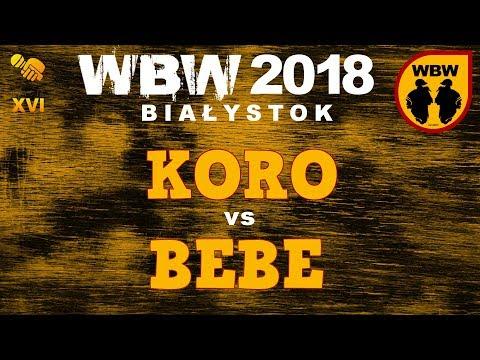 Bitwa BEBE Vs KORO # WBW 2018 Białystok (1/8) # Freestyle Battle