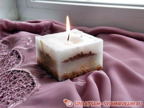 Красивые свечи своими руками парафин