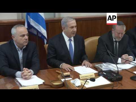 Israeli PM Netanyahu condemns suspected arson at Hebrew-Arabic school in Jerusalem