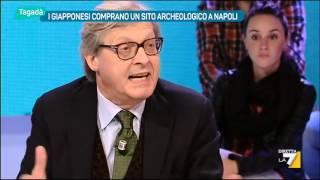 """Scontro Sgarbi vs Erbani: """"Villano!"""", """"Balordo, bugiardo come La Repubblica!"""""""
